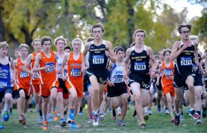 James Woodcock Varsity and junior varsity boys run from the start of the Billings city cross country meet at Riverfront Park Tuesday afternoon. Read more >